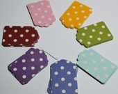 70 Tags - Assortment - Polka Dots - Boutique - Premium Quality - Paper Card Stock