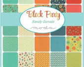 """ON SALE Block Party Moda Charm Pack  Sandy Gervais Moda Quilt Fabric 42 squares 5"""""""