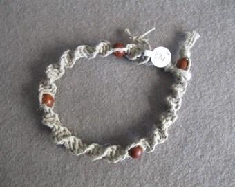 Macrame beaded bracelet/anklet