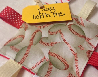 Baseball Baby Crinkle Toy