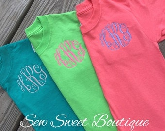 LaSt DaY SALE Embroidered Monogram Tee Shirt