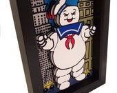 Stay Puft Marshmallow Man Ghostbusters Movie Poster 3D Pop Art