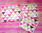 Reusable Ecofriendly Sandwich Bag and Snack Bags - Geo Triangle - set of 3
