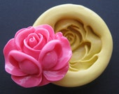 Rose Fondant Silicone Mold Soap Clay Resin Open Rose Mould