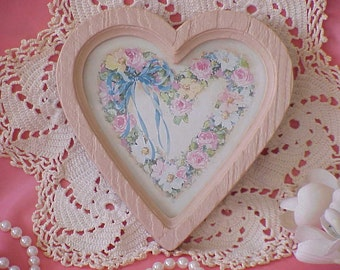 Sweet Vintage Homco Pink Heart Frame 1987