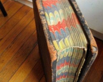large 1933 raised leather bound ledger Huddersfield UK Jos Lumb & Sons