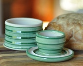 French Butter Keeper, Green