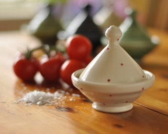 Salt Cellar, with Red Dots