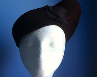 1940s Brown Felt Hat