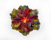 A felt brooch -  Multicolored silk