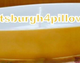 Pyrex - Yellow -  Divided Serving Casserole Dish - No Lid - EUC - 1 1/2 Quarts - 12 1/2 x 8 1/2