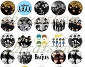 "1"" Inch  The Beatles, Group Shots,  Flatback Buttons, Badges,  Pins, or Magnets 12 Ct."