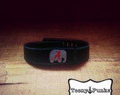 Alabama A and elephant decal for Fitbit Flex activity tracker band.