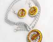 Boom! Comic Book Explosion Earrings and Necklace Jewelry Gift Set