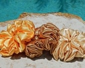 Shades of Gold Sateen Scrunchies