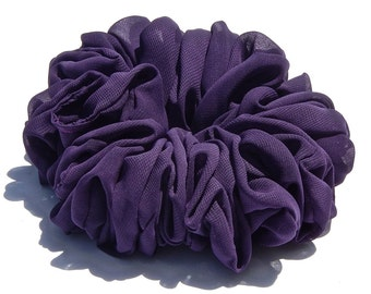 Extra Large Plum Chiffon Scrunchie