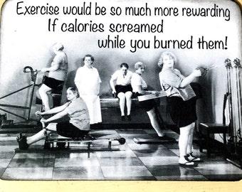 Humorous Exercise Vintage Magnet