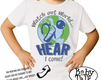 Cochlear Implant shirt - perfect for ci awareness or to celebrate activation day or hearing anniversary