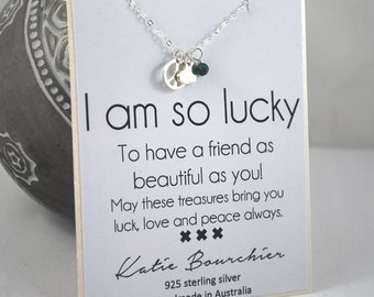 Sterling silver Friendship necklace, delicate turquoise necklace peace necklace jewelry peace love charms friendship card best friend gifts