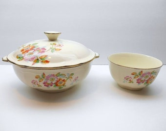 Vintage Alfred Meakin Covered Serving Dish with Serving Bowl