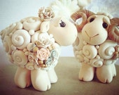 I Love Ewe Custom Keepsake Wedding Cake Topper handmade