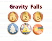 Gravity Falls 1-inch Button or Magnet