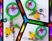 "Badge Reel Accessory ""Rainbow Brite & Friends, Twink Sprite and Starlite"" Bottle Cap Retractable ID Name Tag, Unique Gifts, Medical Gifts"