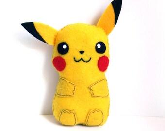 Super cute Pikachu felt plushie