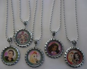 5 x 46cm Silver Tone Ever After High Inspired Necklaces - Great Party Favours