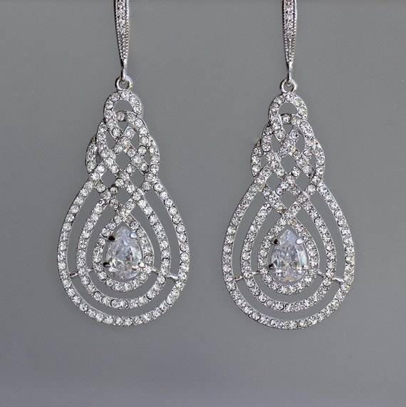 Crystal Chandelier Earrings Pav 232 Earrings Crystal By