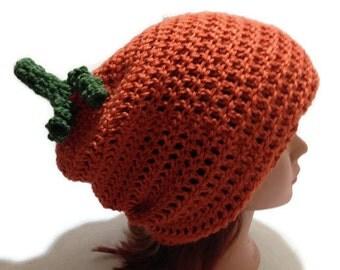 Pumpkin Hat, Slouchy Pumpkin Hat, Pumpkin Costume, Halloween Hat, Pumpkin Beanie, Halloween Costume, Slouchy Hat, Food Hat, Vegetables