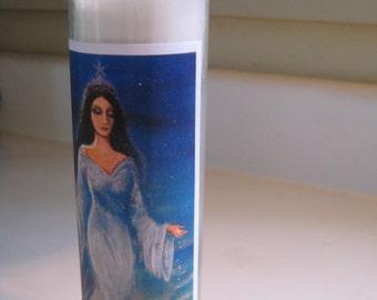 Yemaya Goddess of the Sea Altar candle