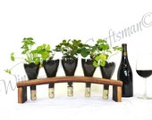 "GARDEN - ""Impianto"" -  Wine Barrel and Bottle Countertop Planter - 100% recycled"