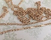 NEW High Quality Classic Long and Short link chain BRUSHED matte gold plated 8mm x 3mm 1 foot