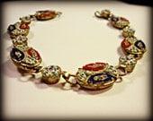 Italian Micro Mosaic Millefiori Bracelet