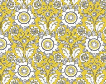 Parisian Scroll in Yellow from Riley Blake Designs - 1 Yard