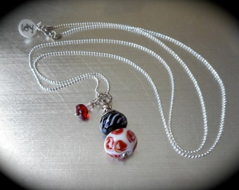 Change a Bead Necklace, Stackable bead holder, Pendant, Hand made glass beads, Interchangeable, One of a kind, Keepsake, Design your own.