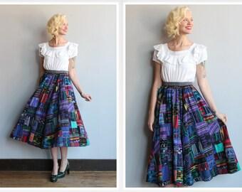 1980s Skirt // Guatemalan Patchwork Skirt // vintage 80s skirt