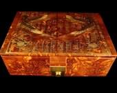 LRG Egyptian Isis Genuine Leather Jewelry Treasure Box