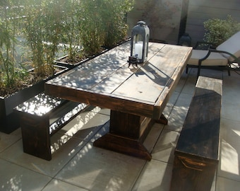 6 foot Patio table and bench set