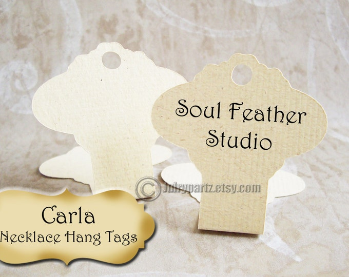 36•CARLA•Hang Tags •2x3•Necklace Tags•Necklace Display•Hanging Necklace Display•Bracelet Tag•Bracelet Holder