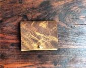 Basset wallet, handmade leather wallet, slim ID holder, mens leather wallet and ID case, handmade leather wallets and ID holders by Aixa