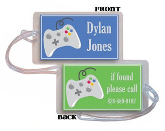Custom Made Backpack Tag Video Games XBOX Teenage Boy Preteen Luggage Diaper Bag Baby Little Boy School Tag Backpack Tag