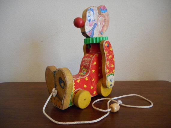 Fisher price 777 squeaky the clown c1958 rare find by for Clown fish price