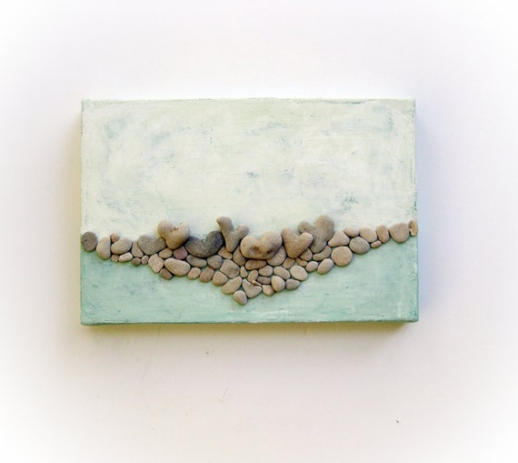 Unique Wall Art Sea Beach Pebble Art Beach House Wall