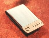 Dad Money Clip - Valentine Gift Men - Valentine Money Clip, Father Gift for Him MC65