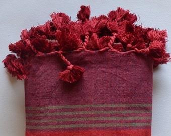 peshtemal, handwoven turkish towel, turkish bath towel, for dad, for mom, green wine red blue towel, spa, yoga, pareo, turkish beach towel