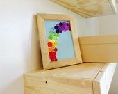 Rainbow Button Art, Wall Decor, Colorful Home Decoration