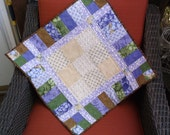 Quilted table topper handmade topper patchwork table topper piano key border