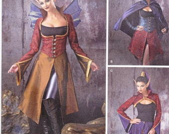 Simplicity Sewing Pattern 1138 Misses' Dark Faeries Faerie Costume New UNCUT